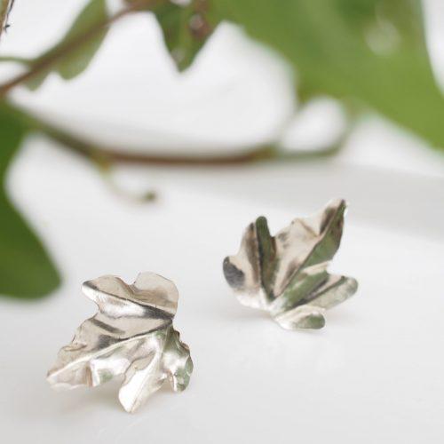 Boucles d'oreilles feuilles de lierre